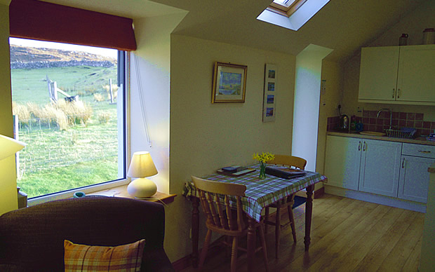 The Byre, Stoer, kitchen dining area.